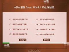 中关村Ghost Win8.1 32位 绿色装机版 2021.06